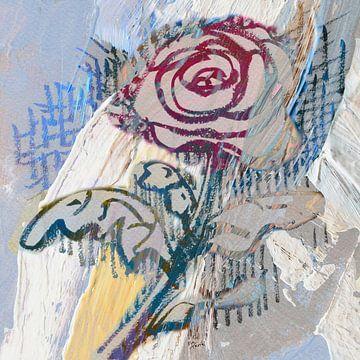 Muurbloem, roos van ART Eva Maria