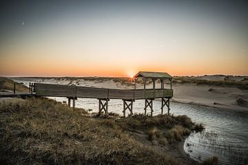 Winterse zonsondergang Petten van Thomas Paardekooper