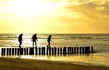 paaldansen op strand ameland