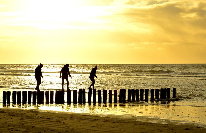 paaldansen op strand ameland van Erwin Reinders