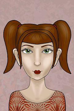 Eens was ik een fee - Taneisha - Portret van een meisje | Victoria Zotova, Rusland van Buzzles Gallery