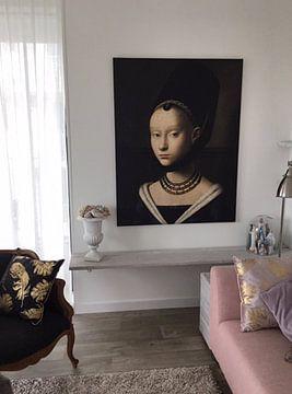 Kundenfoto: Portrait einer jungen Frau, Petrus Christus