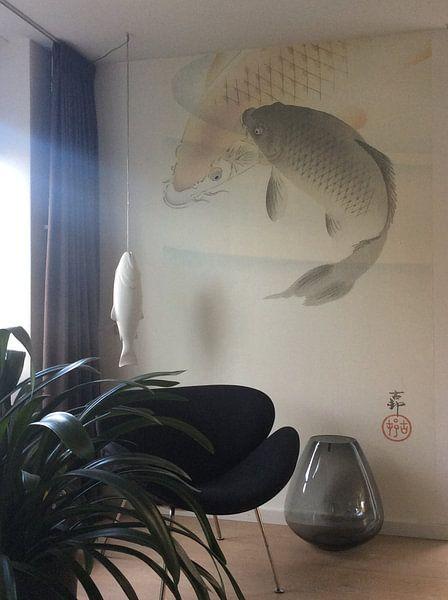 Kundenfoto: Zwei Karpfen von Ohara Koson
