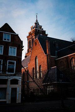 Avondlicht op de grote kerk van van Buren Fotografie