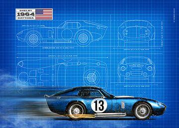 Daytona Coupe Blauwdruk van Theodor Decker