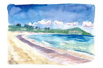 Strandspaziergang am Amazing Sapphire Beach, St. Thomas USVI