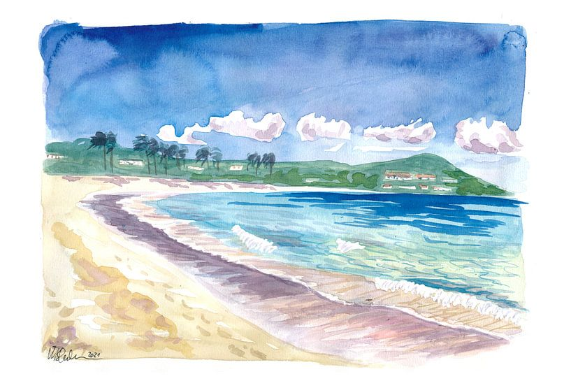 Strandspaziergang am Amazing Sapphire Beach, St. Thomas USVI von Markus Bleichner