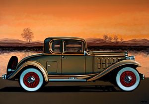 Buick 96 S Coupe 1932 Schilderij