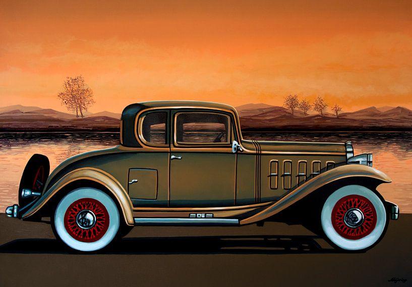 Buick 96 S Coupe 1932 Schilderij van Paul Meijering