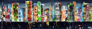 Skyline Stadtbild von Kunstenares Mir Mirthe Kolkman van der Klip