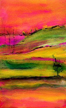 rote Landschaft von Claudia Gründler