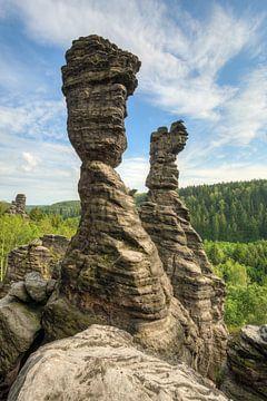 Herkulessäulen in Bielatal in Saxon Switzerland sur