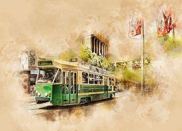 Historische Straßenbahn in Melbourne von Peter Roder