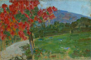 Rudolf Bartels~Landschaft mit Baumstruktur