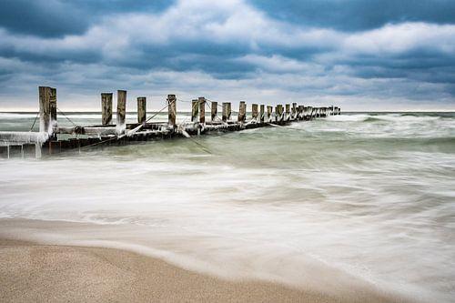 Buhne an der Ostseeküste von Rico Ködder