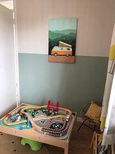 Klantfoto: Camper Avontuur van Goed Blauw, op canvas