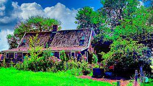Kleiner Bauernhof mit Garten