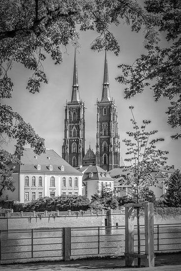 WROCLAW wroclaw Kathedraal | zwart-wit van Melanie Viola