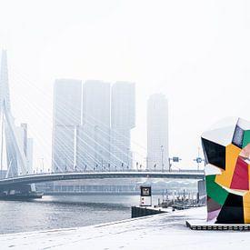 Skyline Rotterdam - Snow von Francisca Snel (Cissees)