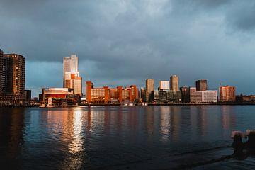 Skyline von Rotterdam von Dayenne van Peperstraten