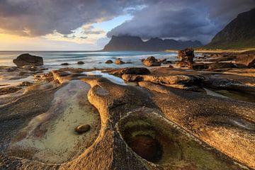 Uttakleiv beach, Lofoten sur Sven Broeckx