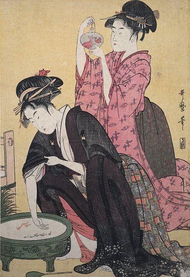 Kingyo] = [Goldfish], Kitagawa, Utamaro (1753?-1806), (Artist), Date Created: ca. 1793-ca.1804, Japa