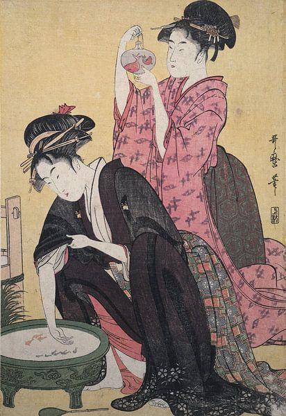 Kingyo] = [Goldfish], Kitagawa, Utamaro (1753?-1806), (Artist), Date Created: ca. 1793-ca.1804, Japa van Liszt Collection
