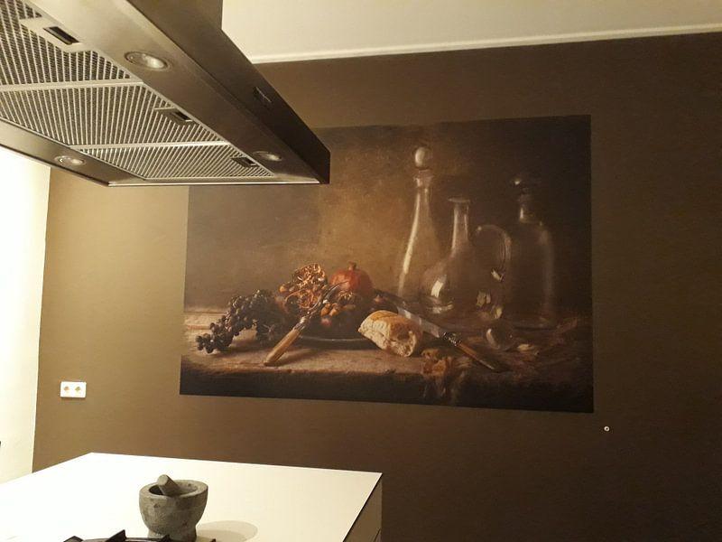 Klantfoto: Stilleven 32 van Ron jejaka art, op naadloos behang
