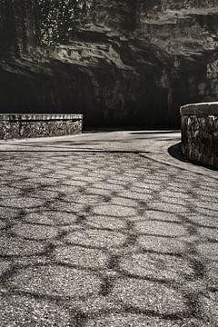 Weg door de Brasa Schlucht in Tremosine Italië van Jefra Creations