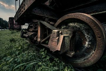 Verlassener Waggon (Detail) von Bert-Jan de Wagenaar