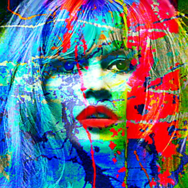 Brigitte Bardot Splash Pop Art PUR van Felix von Altersheim