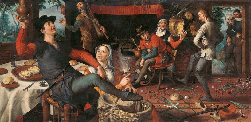 Der Eiertanz, Pieter Aertsen, 1552 von Marieke de Koning