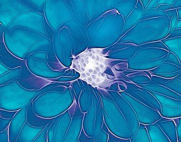 Die Dahlie (Aquamarin) von Caroline Lichthart