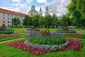 Jardin de cour baroque à Kempten