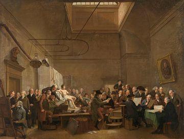 Der Salon der Felix-Meritis-Gesellschaft, Adriaan de Lelie, 1801