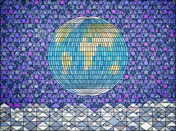 Earthrise glas-in-lood