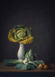 Stilleven vergeelde groente van Monique van Velzen