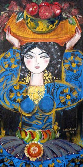 Pomegranate Girl van  Leila Chouban