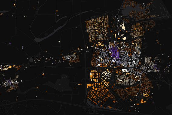Kaart van Goes abstract van Stef Verdonk