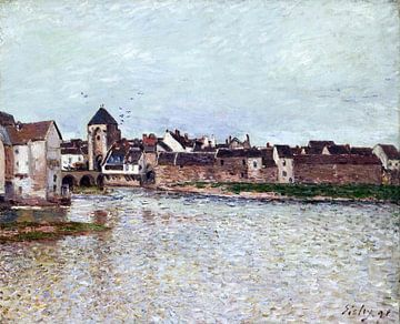 alfred sisley, Brug bij moret-sur-loing - 1891 van Atelier Liesjes