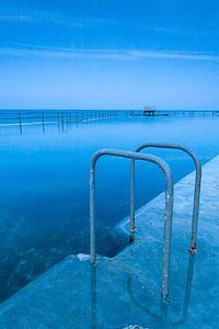 Zwemtrap bij een zeezwembad in Guernsey