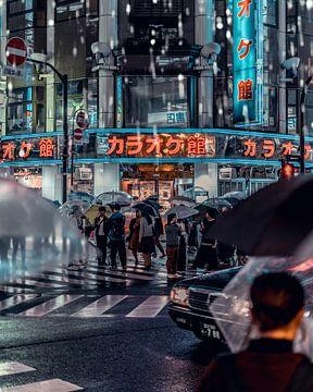 Rain in Tokyo sur Cuno de Bruin