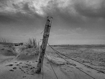 Strandgezicht van Dirk van der Plas