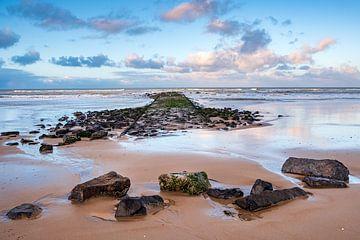 Wellenbrecher in der Nordsee von Evert Jan Luchies
