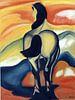 Paard van Marc van Jan Wiersma thumbnail