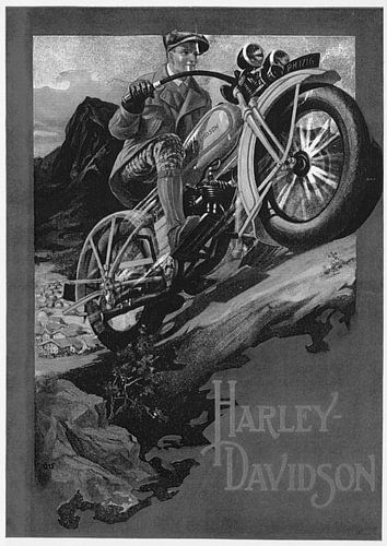 poster Harley Davidson van