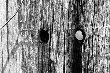 Kijkgaatje hout  van Stef De Vos