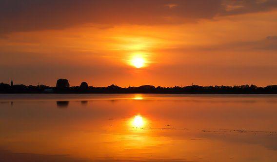 Zonsondergang Loosdrecht van Robin Voorhamm