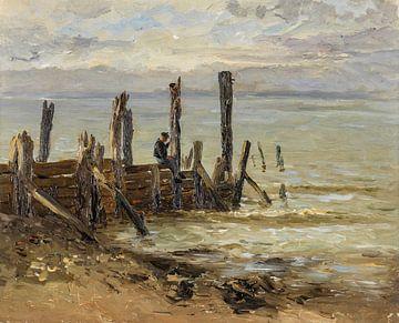 Carlos de Haes-Zeewerf, Holzzaun, antike Landschaft