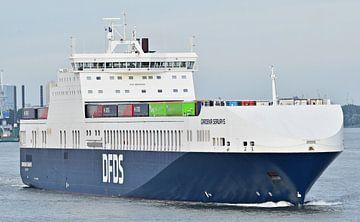 DFDS Gardenia Seaways van Piet Kooistra